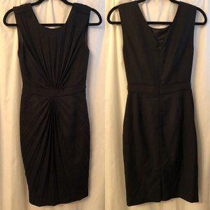 TED BAKER Pleat Front Sleeveless Dress Black